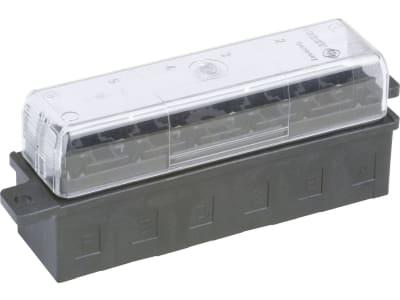 """Herth + Buss Sicherungsdose 95 x 25 x 24 mm, 6-polig, mit Flachsteckanschluss für Flachstecksicherungen """"Standard"""", 50 300 647"""