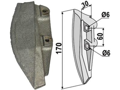 Industriehof® Säschar, 30 x 170 x 67 mm, 2-Loch für Monosem, 99.MO-01