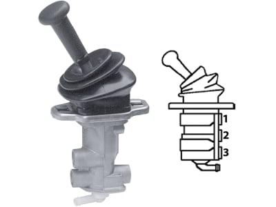 Wabco Handbremsventil, pneumatisch, mit Faltenbalg, Betriebsdruck max. 10 bar, Austauschteil, 961 722 260 7
