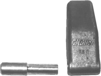 Bordwandscharnier, 20 mm x 100 mm, schwer, für Bordwand mit Zentralverriegelung (Müller Mitteltal)