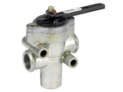 Wabco Handbremsventil, pneumatisch Hebelbohrung Ø 6 mm, Nullstellung 0°, Betriebsdruck max. 10 bar, Austauschteil, 461 701 002 7