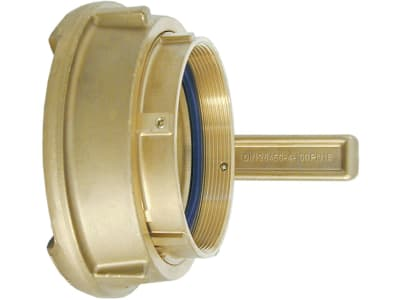 Hücobi M-Kupplung, 100 mm, Messing, mit NBR-Rundschnurring, Vulkollan®-Gewindedichtung