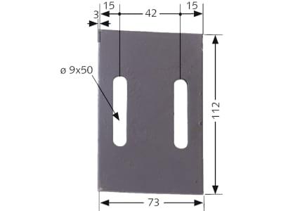 Industriehof® Abstreifer 112 x 73 x 3 mm, Bohrung 50 x 9 mm für Maschio, 51-M200