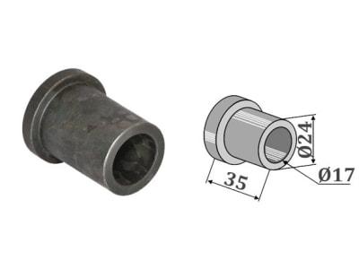 Industriehof® Innenbuchse 35 x 3,5 mm, Ø innen 17 mm, Ø außen 24 mm, für Mulag, Nicolas, Noremat, Rousseau, S.M.A., 63-ROU-63