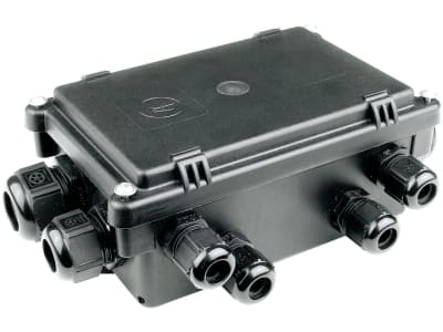 Herth + Buss Kabelverbindungsdose 12-polig, Anschluss 8 x 4 + 3 x 8 + 1 x 20 Flachsteckanschluss 6,3 mm, Ein-/Ausgänge 12, 50 290 027
