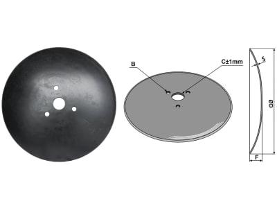 Industriehof® Hopfenscheibe gewölbt, 410 x 3 mm, LK 110 mm, ZB 41 mm, , für Hösch, 31-116CI-RS10