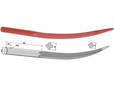Industriehof® Frontladerzinken 643 mm, Ø 35 mm, spitz, gebogen, für Emily, 18641