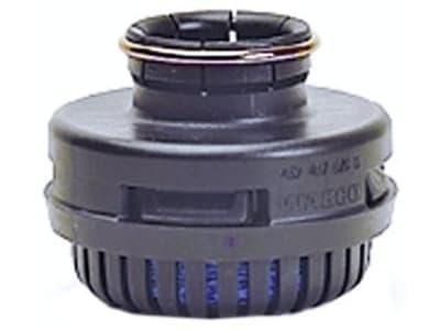 Wabco Geräuschdämpfer, Ø 69 mm; 87 mm, Höhe 53 mm; 62 mm; 71 mm, Anschluss Schnappkontur/Schnappkontur und Schelle