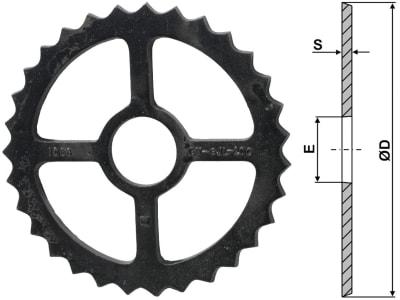 Industriehof® Sternring Ø 530 mm, 120 mm, 18,0 mm, Sphäroguss (GGG60), für universal, 311-535