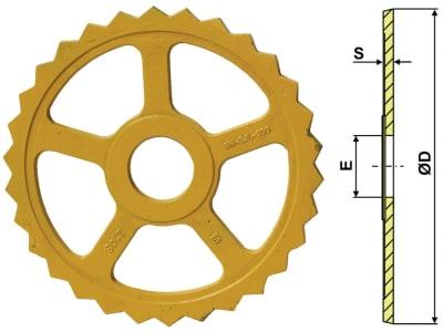 Industriehof® Sternring Ø 485 mm, 95 mm, 15,0 mm, Grauguss (GG20), für Väderstad, 311-533