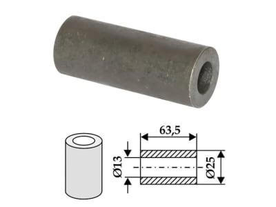Industriehof® Buchse 63,5 x 6 mm, Ø innen 13 mm, Ø außen 25 mm, für Ferri, 63-FEI-18