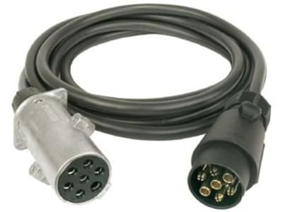 Herth + Buss Adapterkabel 12 V; 24 V, Stecker/Dose 7-polig, 7 x 1,5 mm², Länge Kabel 3.500 mm, 51 276 564