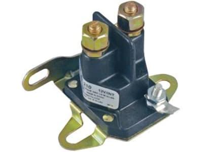 "Magnetschalter 12 V, 2 x Schraubanschluss 1/4""-20 UNF, 1 x Flachsteckanschluss 6,3 mm, auf Montagefuß"