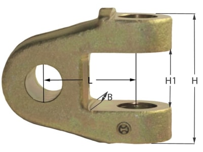 Gelenkgabel, kurz, Bohrung 25,7 mm; 28 mm, für hydraulische Oberlenker