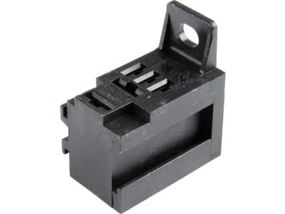 Herth + Buss Relaissockel Flachsteckanschluss 2 x 6,3 mm, 3 x 4,8 mm, mit Halter, 50 290 309