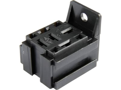 Herth + Buss Relaissockel Flachsteckanschluss 5 x 6,3 mm, 4 x 2,8 mm, mit Halter, Version B, 50 290 268