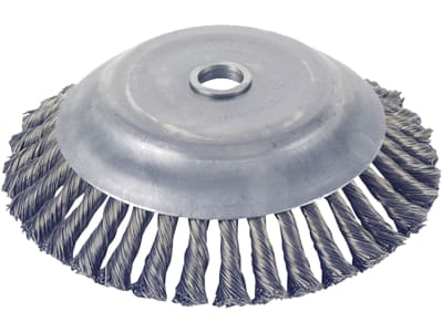 Wildkrautbürste 36 Stahldrahtzöpfe, kegelförmig für die Wildkrautentfernung mit einer Motorsense