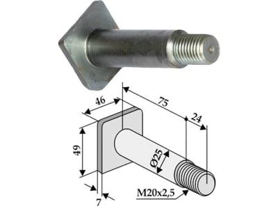 Industriehof® Gewindebolzen M 20 x 2,5 x 99, für Kuhn, Nobili, Vogel & Noot, 63-KUH-900