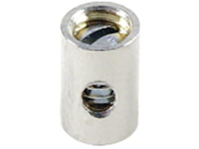 Schraubnippel Ø Schaft 5 mm, Länge 8 mm, montiert, mit Gewindestift M 4 x 4 mm
