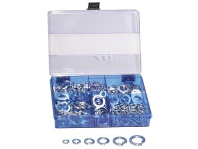 Federring-Sortiment DIN 127 M 6–M 16, verzinkt, 200 St., in Kunststoffbox