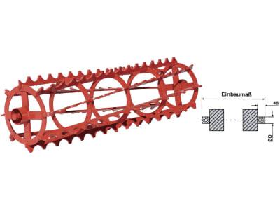 Industriehof® Krümlerwalze Ø 400 mm, mit durchgehender Welle