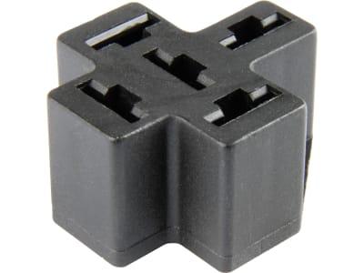 Herth + Buss Relaissockel Flachsteckanschluss 5 x 6,3 mm, für Leiterplattenmontage, 50 390 212
