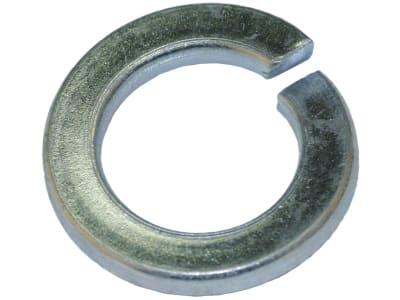 Federring DIN 127, Federstahl, Form B, verzinkt; blau passiviert (A2K)