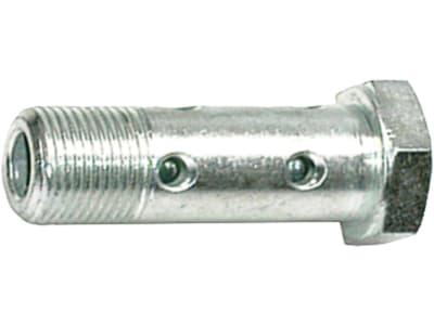 """Hohlschraube """"DHSR"""" zöllig, BSPP, zylindrisch, Hochdruck, Stahl, verzinkt"""