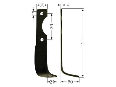 Fräsmesser 195 x 50 x 4 mm Bohrung 9 mm links/rechts für Agria