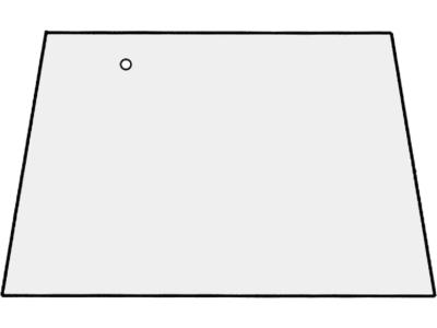 Frontscheibe, grün/klar, für Fendt Farmer 303–312, GT 345–GT 380