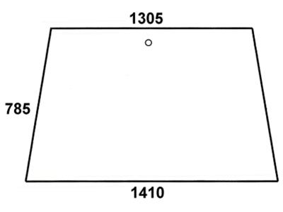 Front-/Heckscheibe, grün/klar, Bohrungen 1, für Fendt Favorit 610, 611, 612, 614, 615
