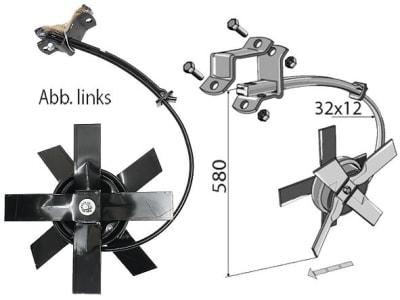 Industriehof® Spatenkrümler links/rechts, Höhe 580 mm, für Kongskilde, Rahmen 60 x 60