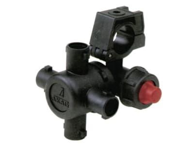 Agrotop Düsenhalter, 4-fach mit Membrantropfstopventil, Betriebsdruck max. 20 bar Kunststoff, Eingang/Ausgang Düsenanschluss Standardbajonett, 12759