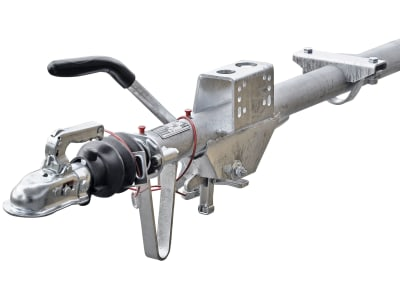 """Knott Auflaufeinrichtung/Auflaufbremse """"KR13/82-C2"""", gebremst, Handbremse mit Gasfederunterstützung, Stützlast 100 kg, für Auflaufeinrichtungen/-bremsen 750 – 1.300 kg"""