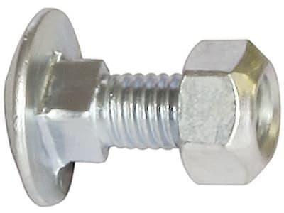 Industriehof® Flachrundschraube M 8 x 1,25 x 30 - 8.8, mit selbstsichernder Mutter für Lely, Maschio, Morra, Howard, Niemeyer, Quivogne, Vogel&Noot, 51-1035