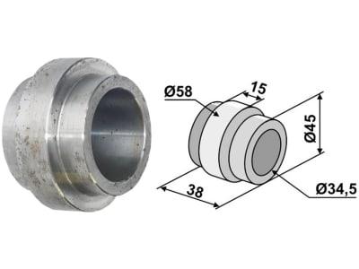 Industriehof® Lagerwelle für Lagerung mit Vierkantwelle 26 x 26 mm (Best. Nr. 10477881), Hankmo, 45; 58 x 34,5 x 38 mm, 31-0016D