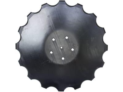 Industriehof® Eggenscheibe 460 x 6 mm, LK 112 mm, gewölbt, gezahnt, flacher Ansatz, für Accord, 31-0539