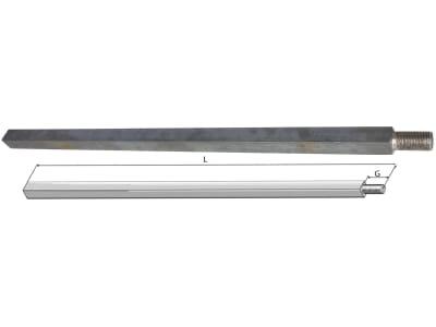 Industriehof® Vierkantwelle 26 mm, für Spatenrollegge