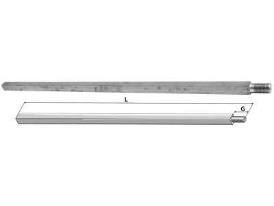Industriehof® Vierkantwelle 30 mm, für Scheibeneggen, Spatenrollegge