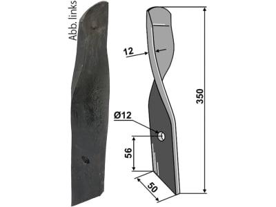 "Industriehof® Rollspatenmesser links/rechts 350 x 50 x 12 mm Bohrung 12 mm für ""Dyna-Drive Jumbo"""