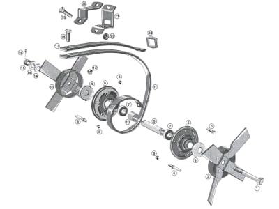 Industriehof® Schutzabdeckung für Spatenkrümler links/rechts (Best. Nr. 10701792/10701793), 312-105070033