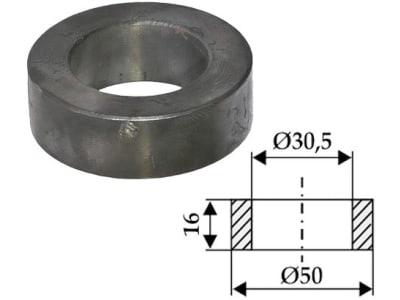 Industriehof® Mittelbuchse 16 x 9,75 mm, Ø innen 30,5 mm, Ø außen 50 mm für Agromet, 63-IND-900