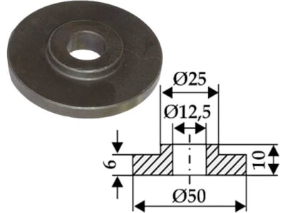 Industriehof® Scheibe 12,5 x 25; 50 x 6 mm; 10 mm für Agromet, 63-IND-901