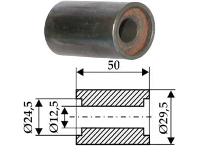 Industriehof® Innenbuchse 50 x 2,5/8,5 mm, Ø innen 12,5 mm; 24,5 mm, Ø außen 29,5 mm, für Agromet, 63-IND-902