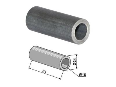 Industriehof® Buchse 61 x 4 mm, Ø innen 16 mm, Ø außen 24 mm, für Mulag, Nicolas, Noremat, Rousseau, S.M.A., 63-ROU-61