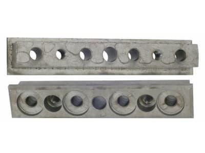 Mitnehmer, 125/130 x 16/25 x 23 mm, Bohrung 8 mm; 10 mm, für Strautmann Hydromix 400