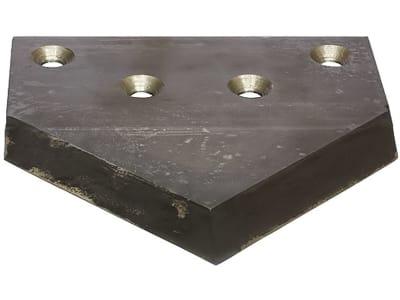 Industriehof® Siloschneidmesser mittig, 216 x 209 x 7 mm, für Bressel & Lade, 70-502