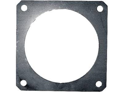 """Hücobi 4-Eck-Flansch, Edelstahl V2A, 180 x 180 mm, 6"""", für Gülleflanschschieber, 8026 150150"""
