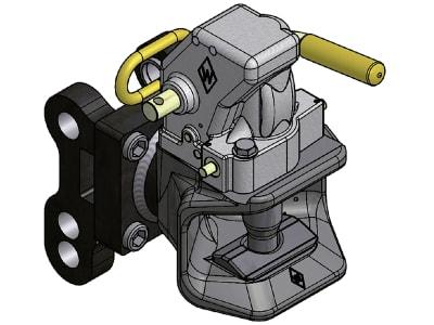 """Cramer Anhängekupplung """"KU958"""" A 100 mm, B 25 mm, C 130 mm, Automatikkopf, Kuppelbolzen ballig, 8005101"""