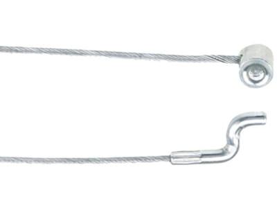 Bowdenzug Ø 1,9 mm, 2.000 mm, mit angepressten Nippel Ø 6,4 mm und Endstück Z-Form Ø 4 mm